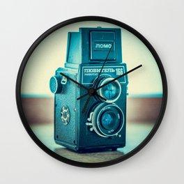 Vintage old film photo-camera  Wall Clock