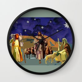 The Christmas Story Shepherds Wall Clock