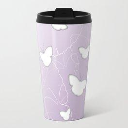 Butterflies | lilac color Travel Mug