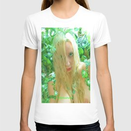 Nude sexy blond wet fairy wood nymph lady kashmir  T-shirt