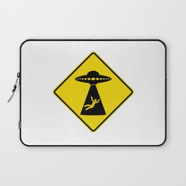 Alien Abduction Safety Warning Sign Laptop Sleeve