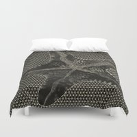 starfish Duvet Covers featuring STARFISH by Mary Szulc