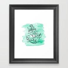 Live A Salty Life Framed Art Print