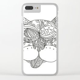 French Bulldog Doodle Art Clear iPhone Case