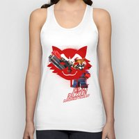 rocket raccoon Tank Tops featuring Rocket Raccoon by Markusian