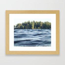 Summer Forest Lake Framed Art Print