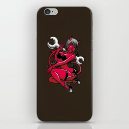 Devil Pin-Up Girl with Big Wrench iPhone Skin