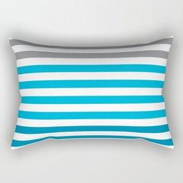 Stripes Gradient - Blue Rectangular Pillow