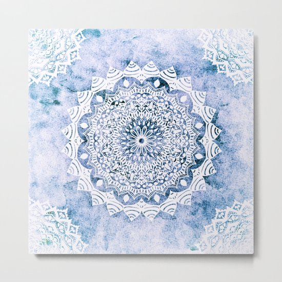 BLUE SKY MANDALA Metal Print