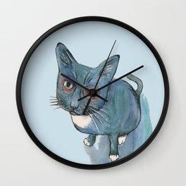 Blu Cat Wall Clock