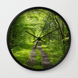 Trail Through Green Woods Wall Clock