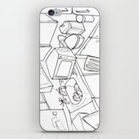 kitchen iPhone & iPod Skins featuring Kitchen by Frances Roughton