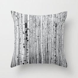 Aspen Tree Maze Throw Pillow