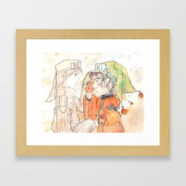 Faint Framed Art Print