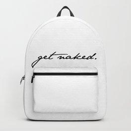 Get Naked. Black on White Backpack