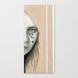 Beach Tribe Two - Gypsy Soul Searching Woman Canvas Print