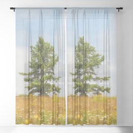 Meadow Warden Sheer Curtain