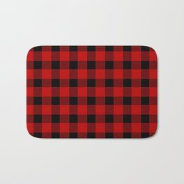 Buffalo Check - black / red Bath Mat