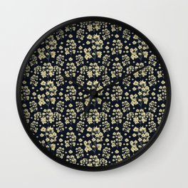 Sunflowers Floral Print Pattern Wall Clock