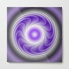 The Power Of Purple, Modern Fractal Art Graphic Metal Print