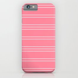 Simple Lines Pattern pw iPhone Case