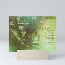 Serenity Prayer Trees, Water, Bridge Mini Art Print