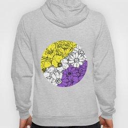 Non binary flowers Hoody