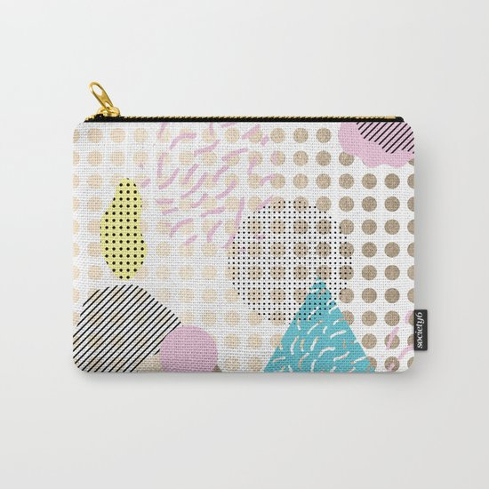 Simply Metallic Memphis Dots Carry-All Pouch