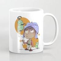 aladdin Mugs featuring Cute Aladdin by EY Cartoons