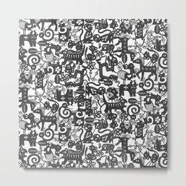 paper zodiac graphite Metal Print