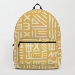 Mudcloth in yellow ochre Backpack