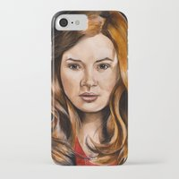 amy pond iPhone & iPod Cases featuring Amy Pond by Hannah D