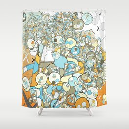 Nested Composition 3 Shower Curtain