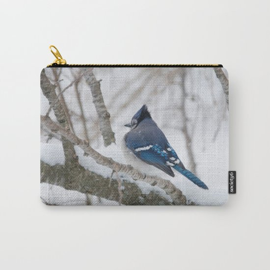 Winter's Cold (American Blue Jay) Carry-All Pouch