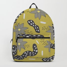 Yellow and grey pattern design  Backpack