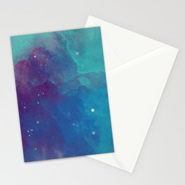 Watercolor night sky Stationery Cards