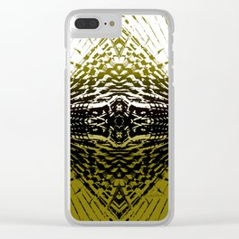 Shield of Gold Palms Clear iPhone Case