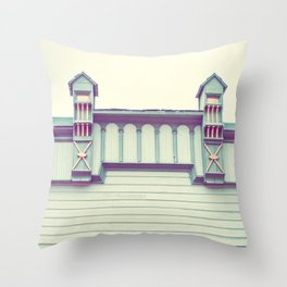 Green Facade Throw Pillow