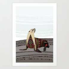 sea lion mono Art Print