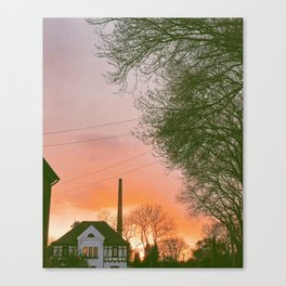 Sunset in Germany Canvas Print