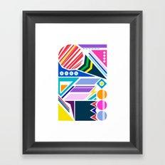 Geo Splash Framed Art Print