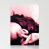 lip Stationery Cards featuring Honey lip by NK sharma
