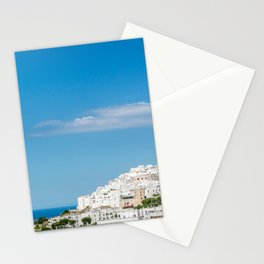 Panoramic view of the medieval white village of Ostuni Stationery Cards