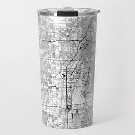 Las Vegas White Map Travel Mug