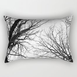 Tree Branches In Winter Rectangular Pillow