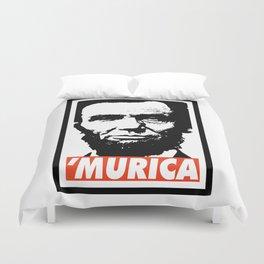 Abraham Lincoln Murica Duvet Cover