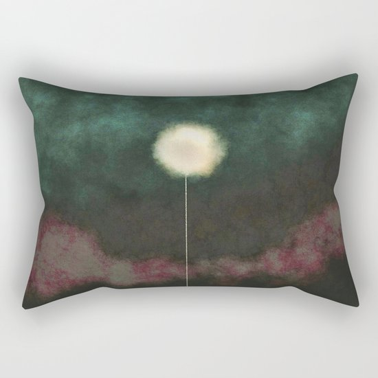 Solitary Midnight Thoughts Rectangular Pillow