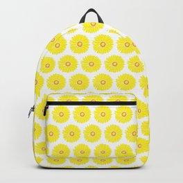 Yellow Gerbera Daisies Illustrated Print Backpack