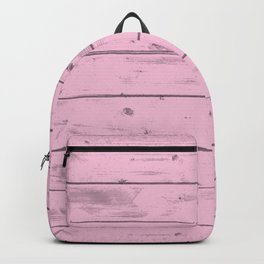 Pink Wood Texture Backpack