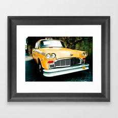 Yellow Cab (2) Framed Art Print